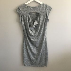 Athleta Dresses - Athleta Gray Dress With Back Cut Out #401